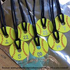 softball pendent necklace made from washers