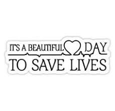 It\'s A Beautiful Day To Save Lives Quote Best of Grey's Anatomy McDreamy Quote Stickers By Emilystp24 Redbubble