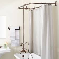 shower ring for clawfoot tub. brass shower - oil rubbed bronze ring for clawfoot tub n