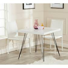 Safavieh Wolcott White And Black Dining Table Fox4205a The Home Depot
