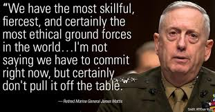General Mattis Quotes Fascinating QUOTES 48 Top Military Leaders Reject 'No Boots On Ground' Pledge