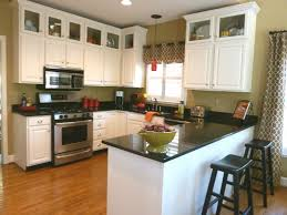 White Galaxy Granite Kitchen White Island Also Cabinetry With Black Galaxy Granite Countertop