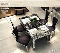 modern stylish furniture. Dining Table Sets Black Marble Dining 4 Chairs Modern Stylish  Room Set Cheap Furniture V