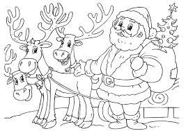 Kleurplaat Kerstman Met Rendieren Afb 23062 Images