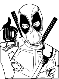 Deadpool Coloring Pages Printable Stunning Page For Kid Disney