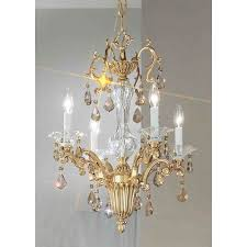 classic lighting via firenze bronze with black patina four light mini chandelier with strass golden teak crystal accents