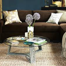 ion glass round coffee table modern tables by for west elm geo stepped