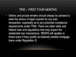 Trid Laws Trid Truth In Lending Respa Integrated Disclosure Ppt Download