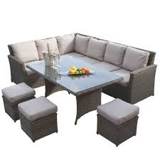 corner dining furniture. maze rattan winchester kingston corner dining garden furniture set
