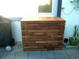 decorative ac unit cover air conditioner outside wall lattice deck skirt vent covers outdoor conditioning wooden for co