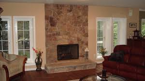 how to reface a refinish brick fireplace with stone veneer