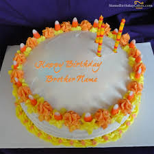 Write Name On Cool Birthday Cake For Brother Happy Birthday Wishes