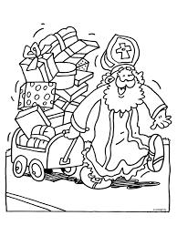 Kleurplaat Sinterklaas Met Veel Cadeautjes Kleurplatennl