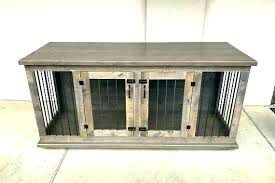 dog cage table wooden dog crate table dog kennel table custom dog crate furniture handmade double dog cage table