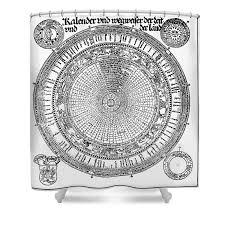 Roman Julian Calendar Shower Curtain