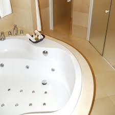 luxury bathroom with jetted tub just cleaning