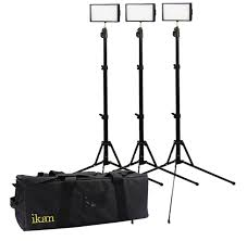 ikan corporation iled312 v2 kit 3 point led light kit with bag and