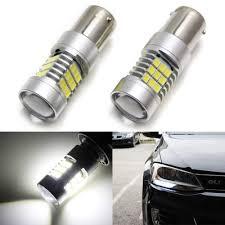 Ijdmtoy Error Free Xenon White 30 Smd 2835 7506 Ba15s Led Bulbs For 2011 2017 Volkswagen Jetta Daytime Running Lights