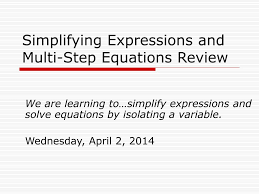 simplifying expressionulti step equations review l
