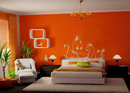 Cozy Bedroom Paint Colors With Orange Wall Color Schemes And White