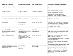 Hormones And Their Functions Chart Animal And Plant Systems Chart