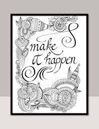 Therapy Quotes Classy Make It Happen Printable Motivational Quotes DIY Zentangle Etsy