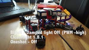 Damped Light Blheli Blheli Damped Light On Vs Off Youtube