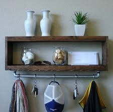 Entry Coat Rack Shelf Fascinating Wall Coat Rack With Shelves Entry Shelf Entryway ReBlog