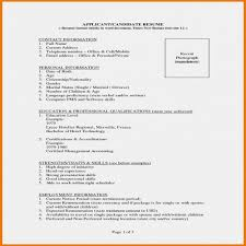 General Contractor Resume Inspirational 8 Best Biodata Format For