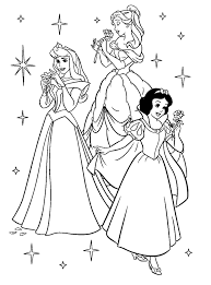 Trio Disney Princess Coloring Pages Free Printable Coloring Pages