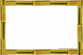 frame. Yellow_green Bamboo Photoshop Frame