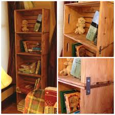 Wooden Crate With Handles Diy Wooden Crate Bookshelves Made With The New Unfinished Crates