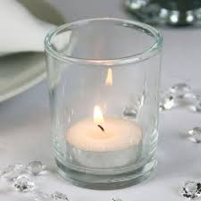 clear glass candle votive 6 5cm