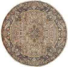 round animal motif vintage tabriz persian rug 51125 nazmiyal