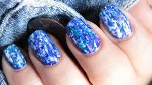 Denim Nails - No Tools Nail Art Design ! - Nail Polish Designs ...