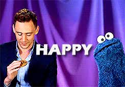 cookie monster tom hiddleston gif. Contemporary Cookie My Gifs Tom Hiddleston Cookie Monster Slumber Party Nerd Hq Olla Interview  Hiddles Birthday  And Cookie Monster Tom Hiddleston Gif M