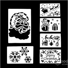 Snow Templates Free Shipping A 6 Pcs Large Christmas Window Decoration Spray Snow