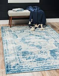 unique loom sofia collection blue 5 x 8 area rug 5 x 8