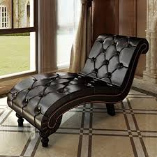 office chaise lounge. Product Reviews | Buy Anself Ergonomic Scroll Button Tufted Lounge Chair Living Room Chesterfield Chaise Brown Office I