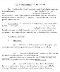 Nda Non Compete Template Ready To Use Non Compete Agreement Templates Free Template
