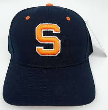 Zephyr Hat Size Chart Syracuse The Cuse Orange Navy Ncaa Vintage Fitted Sized