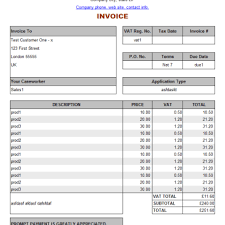 sample invice sample invoices archives word templates