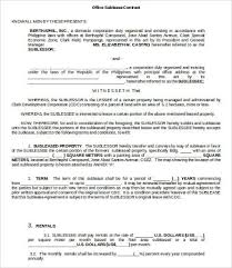 sublease contract template sublease contract template 9 free word pdf documents download