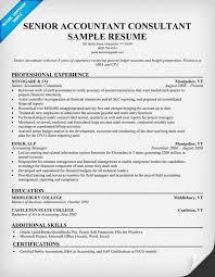 Senior Accountant Consultant 1 Resume Samples Across All