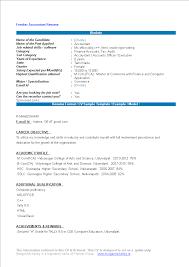 Gratis Accountant Fresher Resume Format
