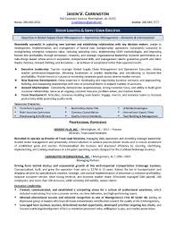 Coo Resume Template Supply Chain Resume Format Therpgmovie 12
