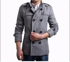 winter duffle trench coat men s warm double ted pea coat men black gray long overcoat fashion gentleman jacket