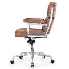 home luxury brown leather desk chair 20 fabric office chairs swivel small computer best boardroom amusing