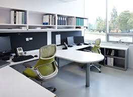 Dual office featuring Generation by Knoll ergonomic chairs ...