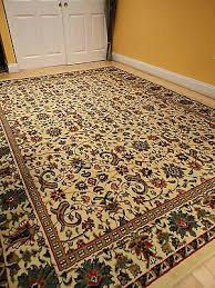3 of 5 traditional oriental all over area rug persian style carpet 8x10 cream rugs 5x8